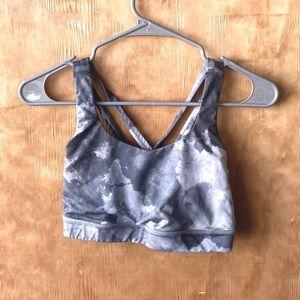 Lululemon Athletica Gray & White Marble Energy Bra